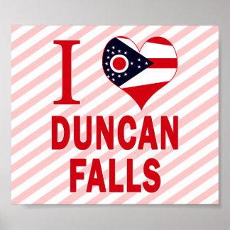 I love Duncan Falls, Ohio Print