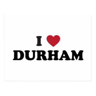 I Love Durham North Carolina Postcard
