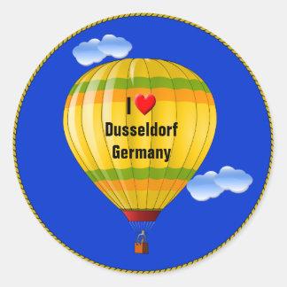 I Love Dusseldorf Germany Classic Round Sticker
