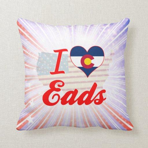 I Love Eads, Colorado Pillows
