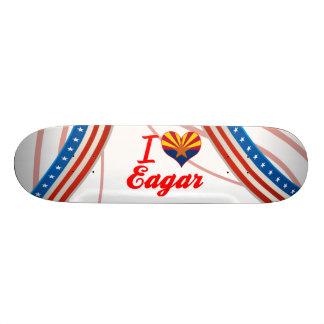 I Love Eagar Arizona Custom Skate Board