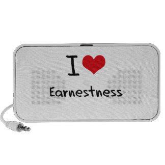 I love Earnestness Notebook Speaker