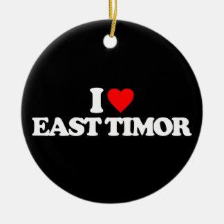 I LOVE EAST TIMOR CHRISTMAS ORNAMENT
