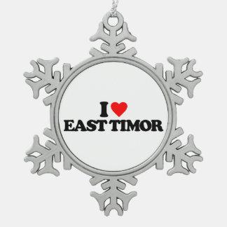 I LOVE EAST TIMOR ORNAMENTS
