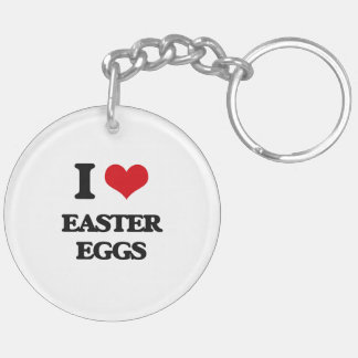 I love EASTER EGGS Acrylic Key Chains
