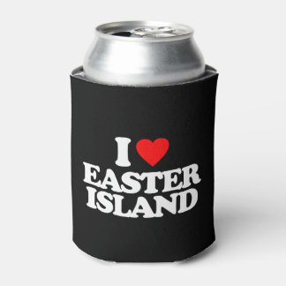 I LOVE EASTER ISLAND CAN COOLER