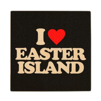 I LOVE EASTER ISLAND WOOD COASTER