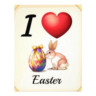 I love Easter Letterhead Design