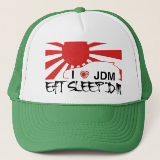 i love eat sleep jdm hat