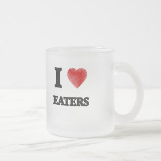 I love EATERS Frosted Glass Coffee Mug