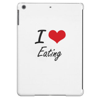 I love Eating iPad Air Covers