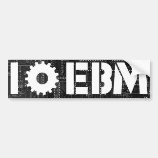 I Love EBM Circuit Board Gear Bumper Sticker