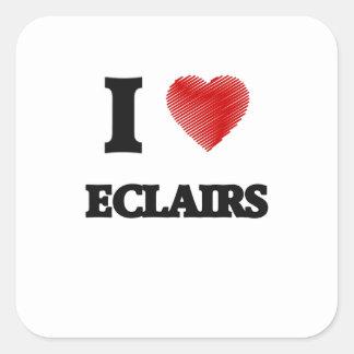 I love ECLAIRS Square Sticker