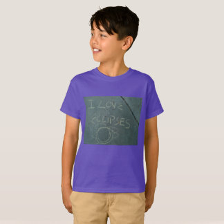I love eclipes chalk writing on cement T-Shirt