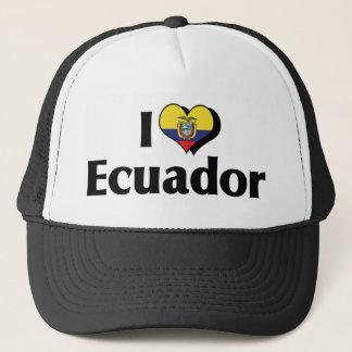 I Love Ecuador Flag Trucker Hat