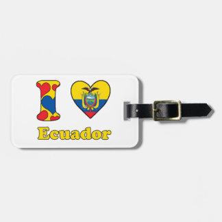 I love Ecuador Luggage Tag
