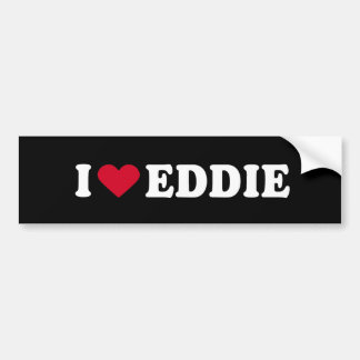 I LOVE EDDIE BUMPER STICKER