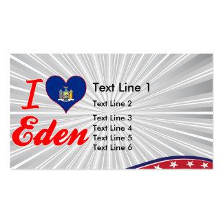 I Love Eden, New York Business Card