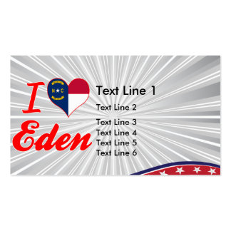 I Love Eden, North Carolina Business Card Templates