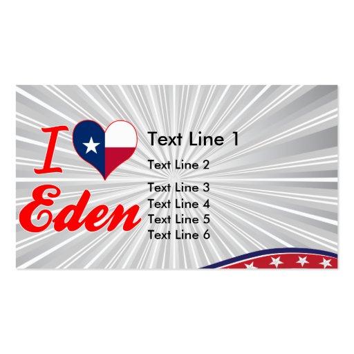 I Love Eden, Texas Business Card Templates