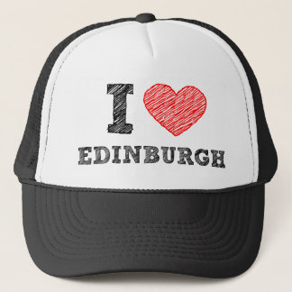 I-love-Edinburgh Trucker Hat