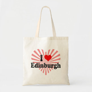 I Love Edinburgh, United Kingdom Tote Bag