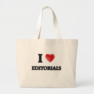 I love EDITORIALS Large Tote Bag