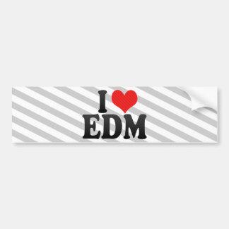 I Love EDM Bumper Sticker