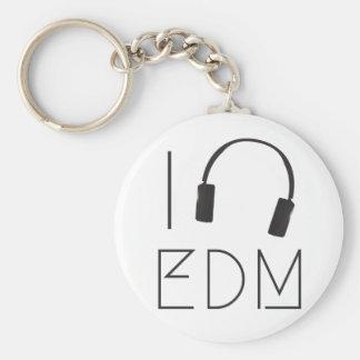 I love EDM Keychain