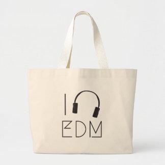 I love EDM Large Tote Bag