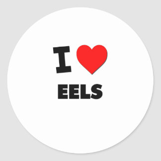 I love Eels Classic Round Sticker