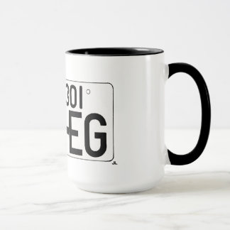 """I Love EG"" Japanese License Plate Mug"