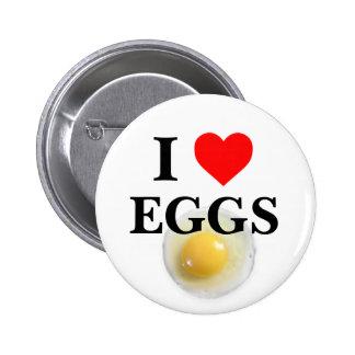 I Love Eggs 2 Inch Round Button