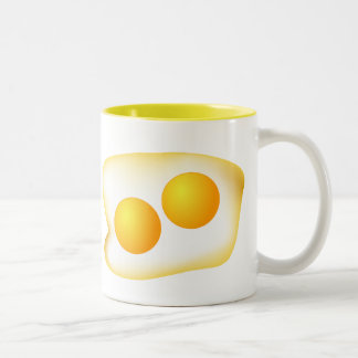 I Love Eggs Two-Tone Coffee Mug