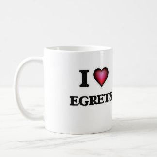 I Love Egrets Coffee Mug