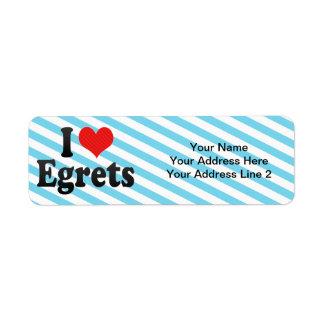 I Love Egrets Return Address Label