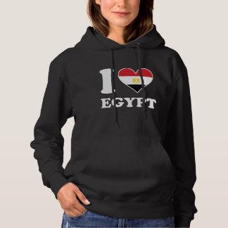 I Love Egypt Egyptian Flag Heart Hoodie