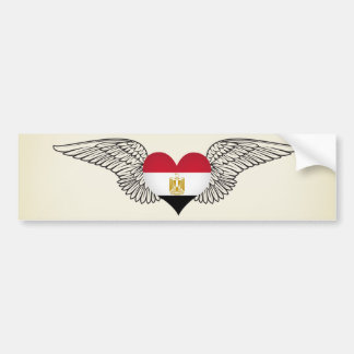 I Love Egypt -wings Bumper Sticker