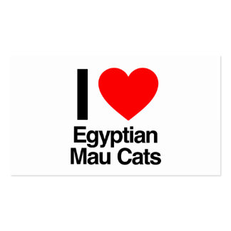 i love egyptian mau cats pack of standard business cards