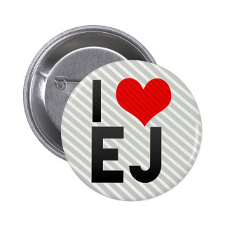 I Love EJ 2 Inch Round Button