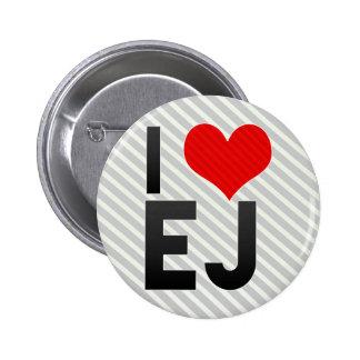 I Love EJ 2 Inch Round Button