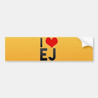 I Love EJ Bumper Sticker