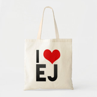 I Love EJ Canvas Bags