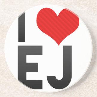 I Love EJ Drink Coaster