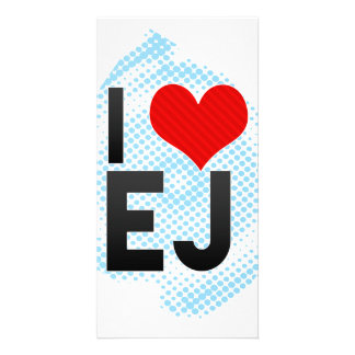 I Love EJ Picture Card