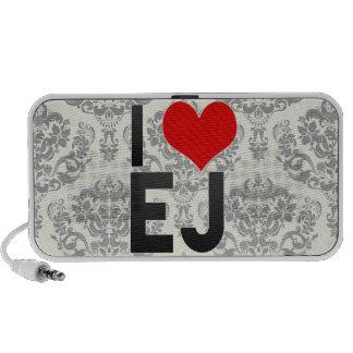 I Love EJ Laptop Speakers