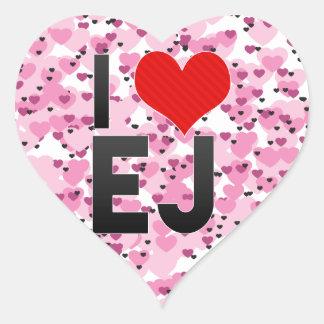 I Love EJ Sticker