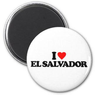 I LOVE EL SALVADOR 2 INCH ROUND MAGNET