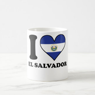 I Love El Salvador El Salvadorian Flag Heart Coffee Mug