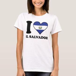 I Love El Salvador El Salvadorian Flag Heart T-Shirt